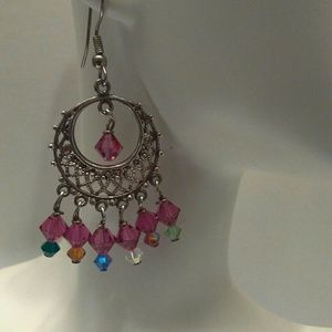 Silver Chandelier Bead Earrings